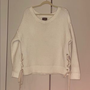 Abercrombie and Fitch Oversized White Knit Sweater